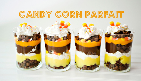 50+ Candy Corn Halloween Inspired Treats and Snacks parfait