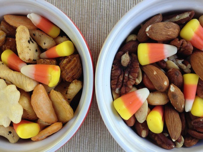 50+ Candy Corn Halloween Inspired Treats and Snacks - trail mix