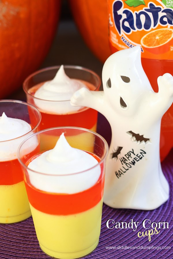 50+ Candy Corn Halloween Inspired Treats and Snacks - fanta gelatin cups
