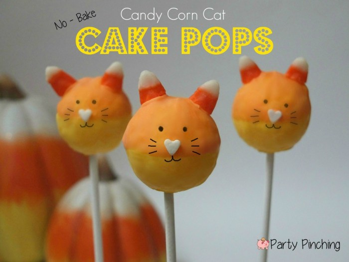 50+ Candy Corn Halloween Inspired Treats and Snacks No Bake Candy Corn Cake Pops