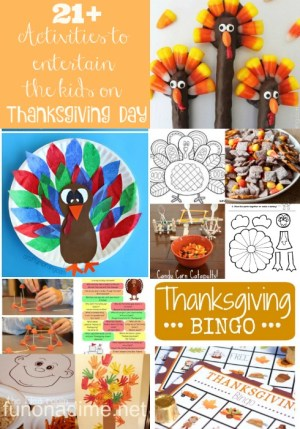 21+ Activities to entertain the kids on Thanksgiving Day