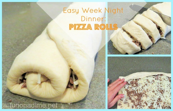 Easy Week Night Dinner Pizza Rolls