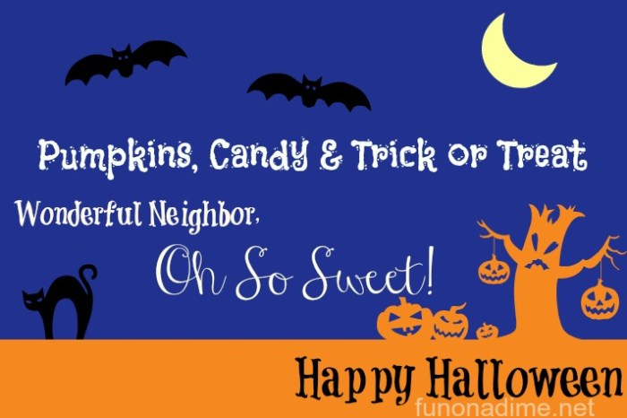 Neighbor Halloween gift printable