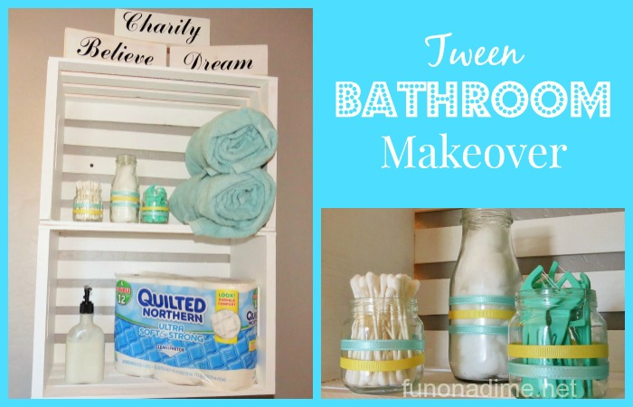 Tween Bathroom Makeover #CraftedExperience [Ad]