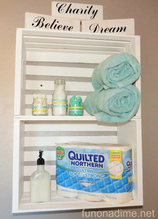 quilted northern bathroom makover