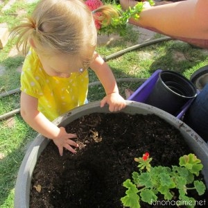 little helping hands with spring planters