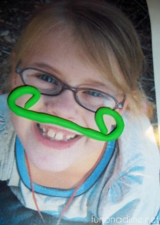 play doh faces snake moustache