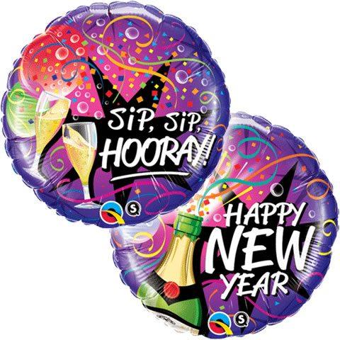 New Years Eve New Year - Sip, Sip Hooray Balloon - Fun ...