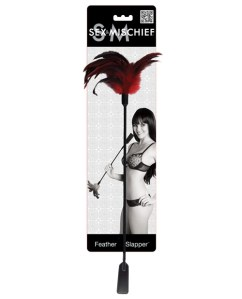 Sex & mischief feather slapper - red/black feathers