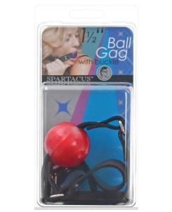"1.5"" ball gag w/buckle - red"