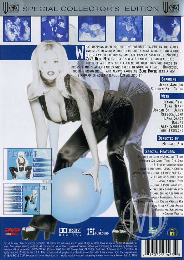 Blue Movie back cover