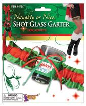 Naughty Or Nice Shot Glass Garter