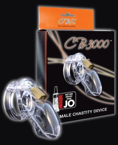 "CB-3000 3"" Cock Cage and Lock Set - Clear"