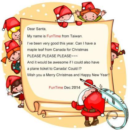 正宗聖誕老公公 寄卡片給你_加拿大