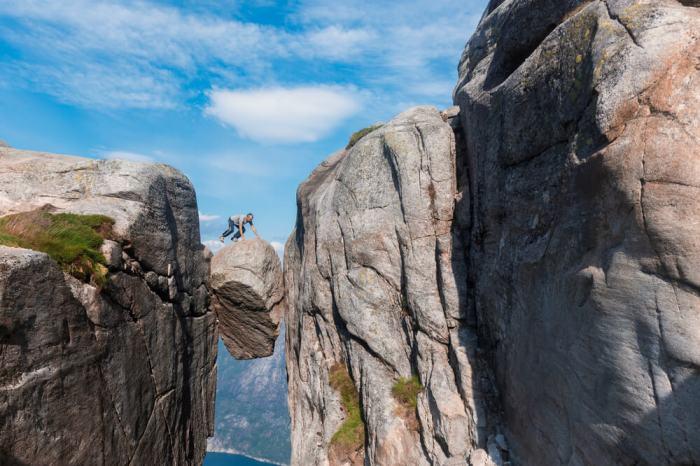 挪威謝拉格柏頓石(挪威奇蹟石)