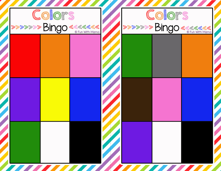 color bingo printable