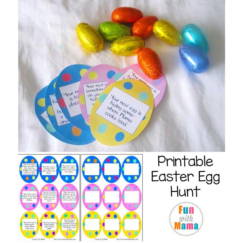 Printable Easter Egg Hunt - Fun with Mama