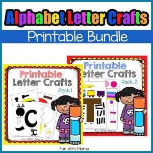 printable alphabet letter crafts for preschool prek and kindergarten kids