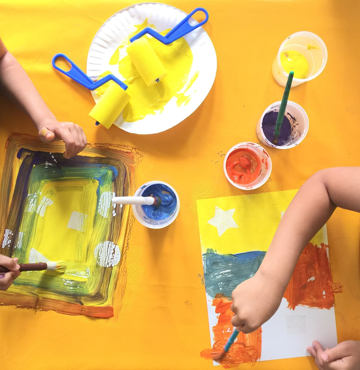 Toddler Shapes Resist Painting Activity