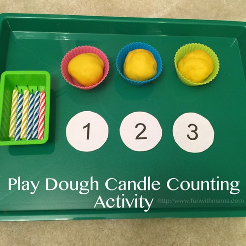 Toddler color matching candle and cupcake tin activity that not only looks pretty but is fun and works on visual perception.