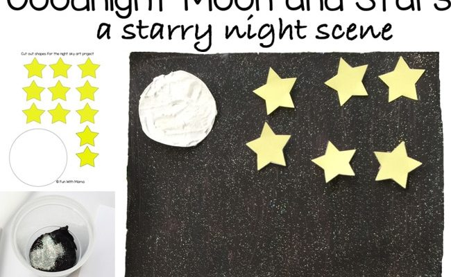 Goodnight Moon and Star Night Sky