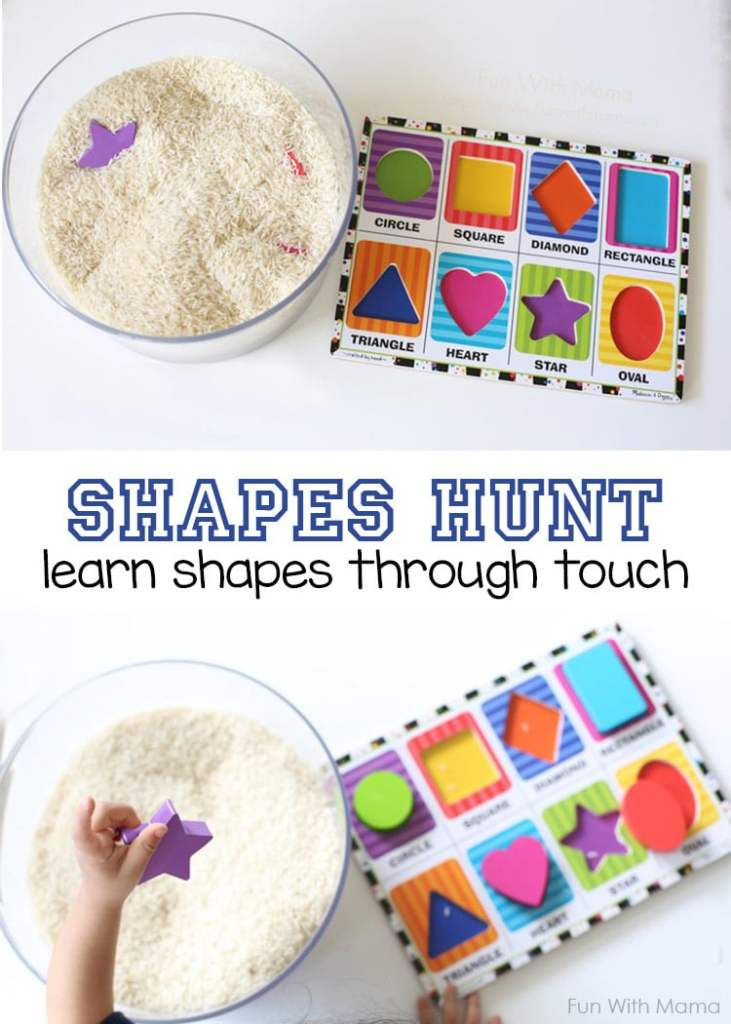Teach Toddlers their shapes with this shapes hunt activity