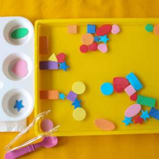 Easy Toddler and Preschool Shapes Preschool Activity