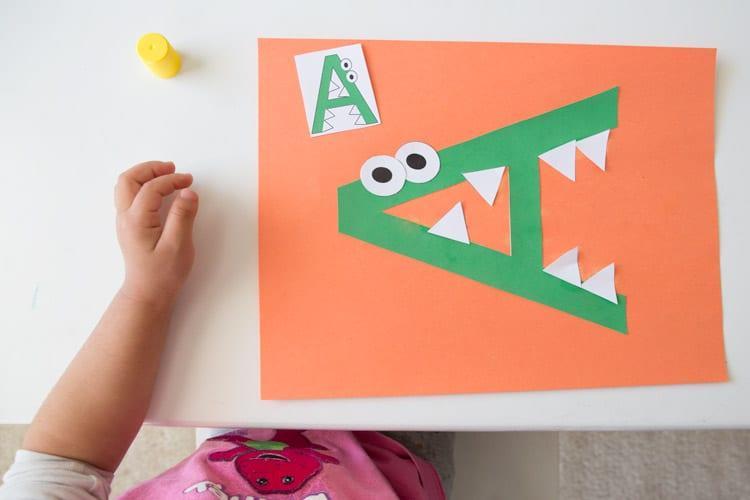 a-for-alligator