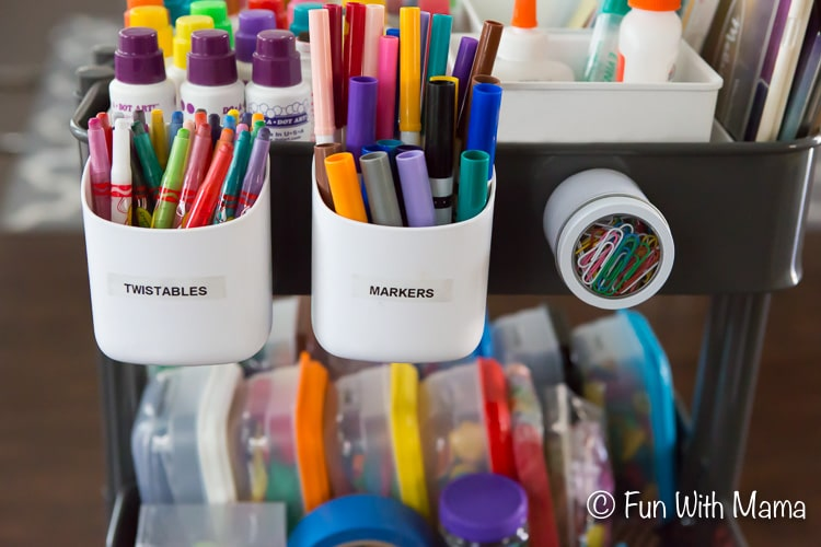 organize kids art supply