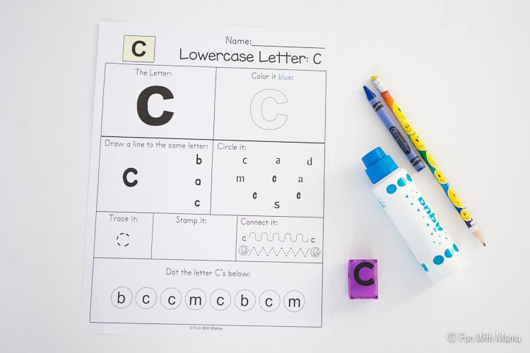 Printable Letter C Crafts and Activities - Fun with Mama