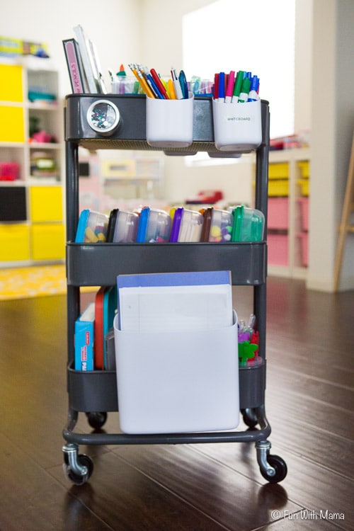 ikea art cart for craft supplies