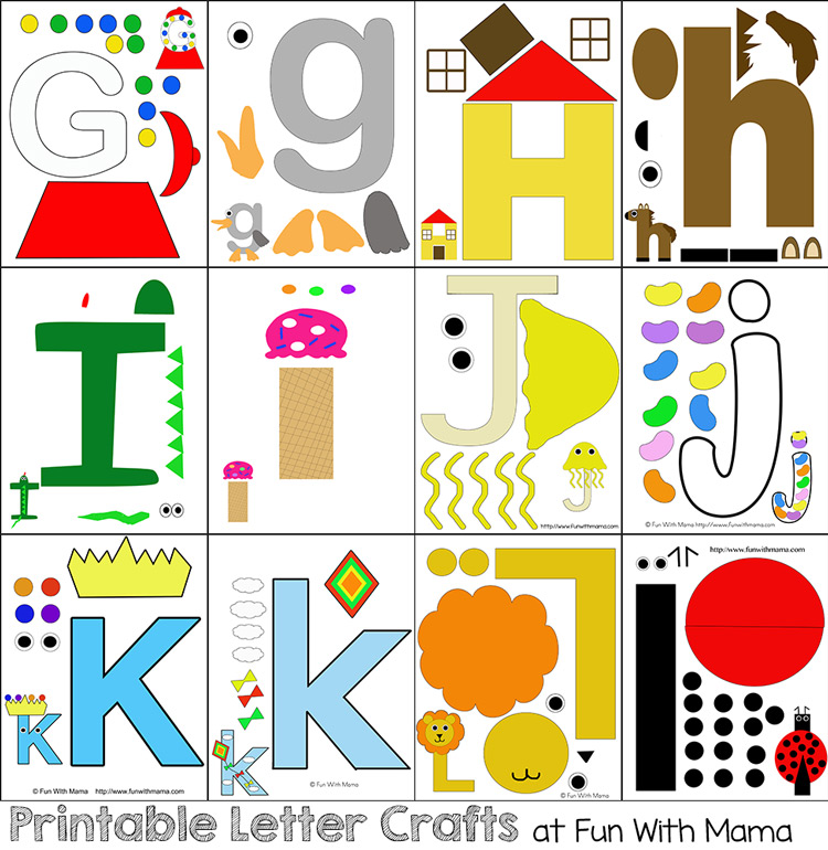 Printable Letter Crafts Pack 1 Fun With Mama