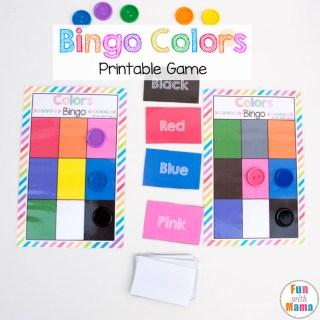 bingo colors printable game