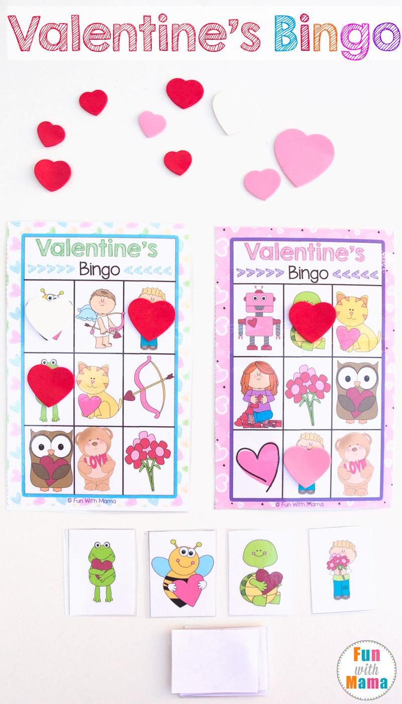 orintable valentines bingo game