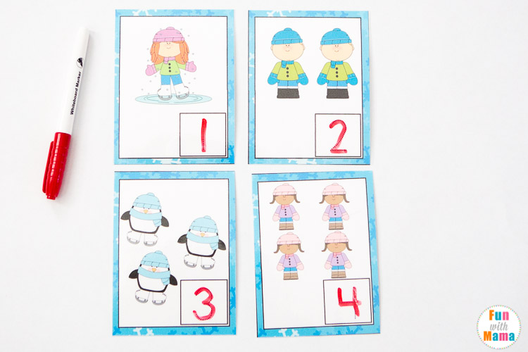 Snowman Winter Ten Frame Printable - Fun with Mama
