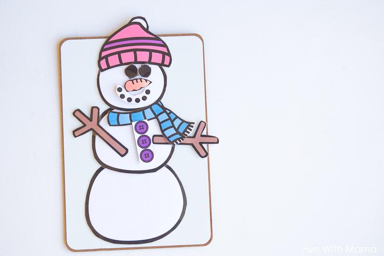 magnetic snowman dress up