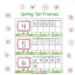 Spring Ten Frame Printable