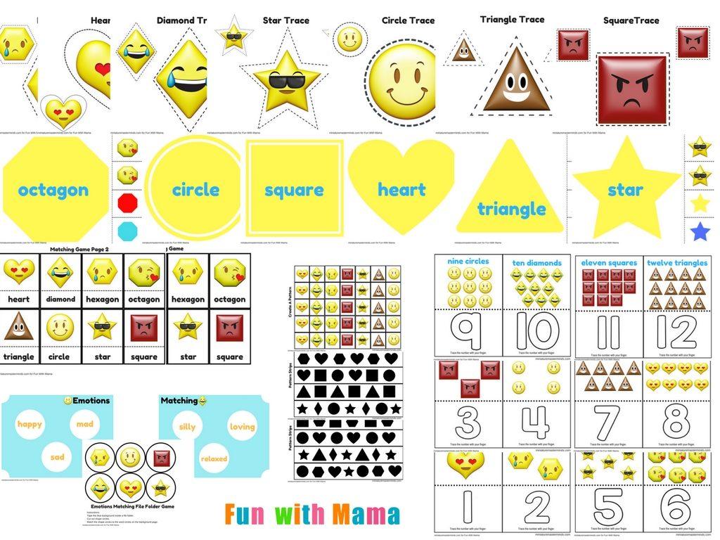 Emotions Shapes Free Printable Preschool Pack