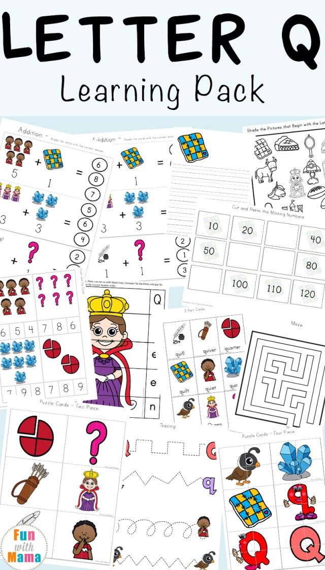 Letter Q Preschool Printable Pack Fun