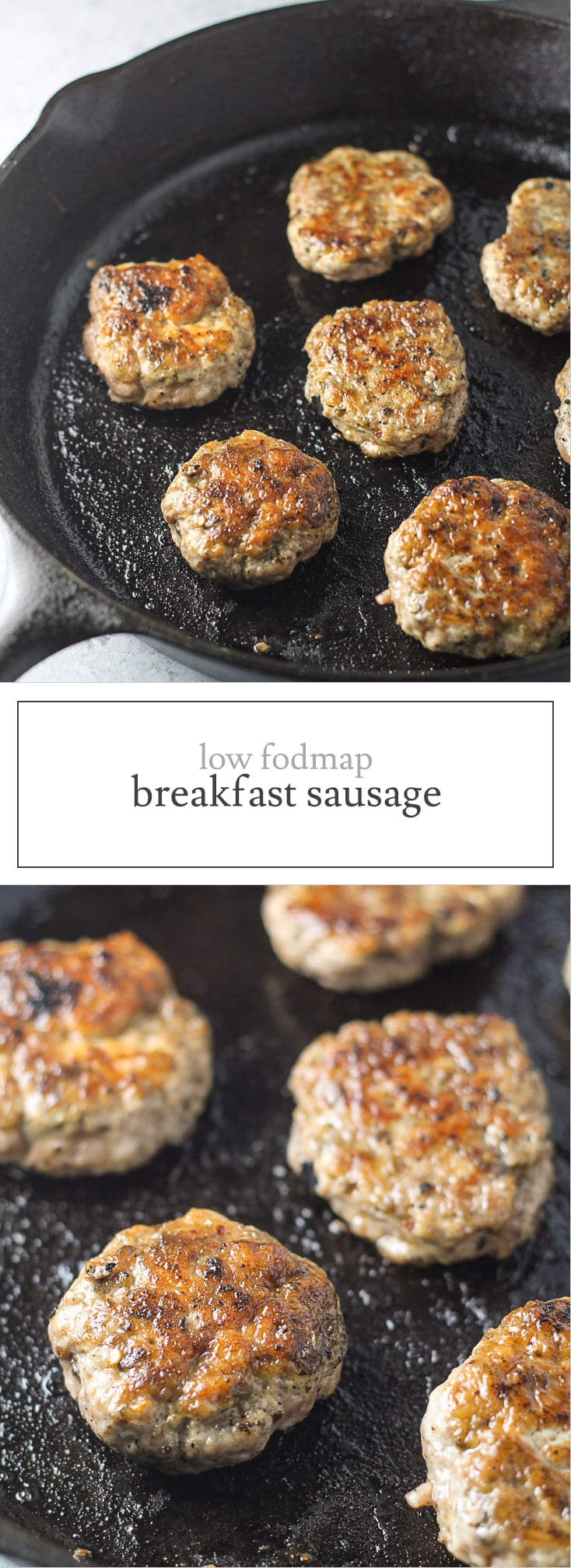 Gluten-free and Whole30 compliant, this Low FODMAP Breakfast Sausage recipe offers a classic breakfast staple without the garlic or onion powder!