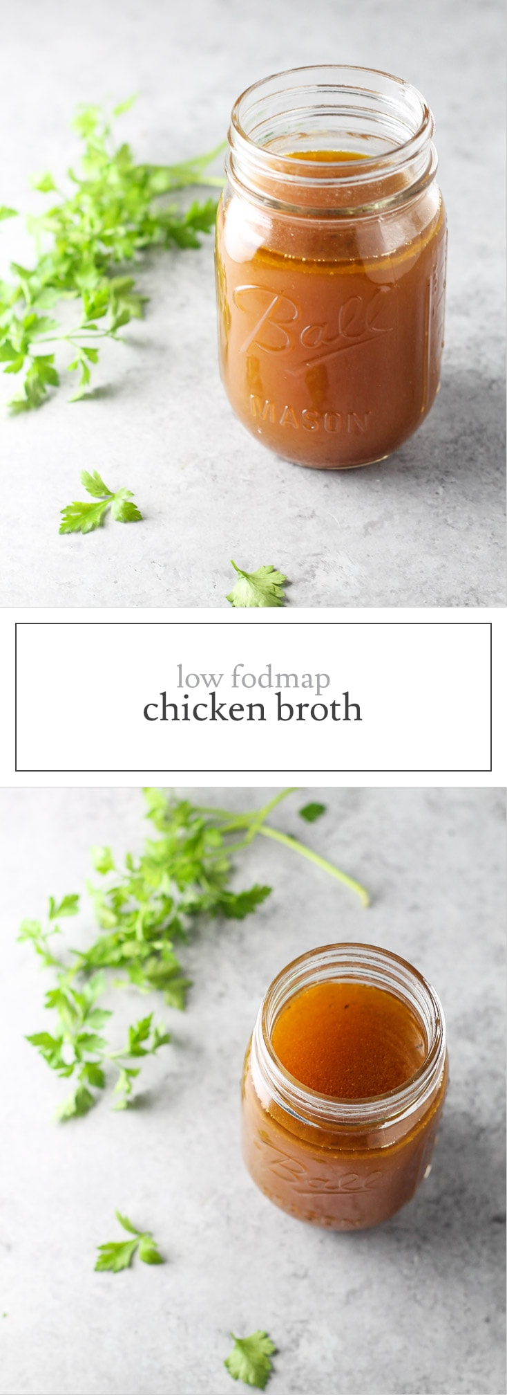 Easily add flavor to soups, pasta dishes and more with this Low FODMAP Chicken Broth recipe. And, it's made in slow cooker for extra ease!