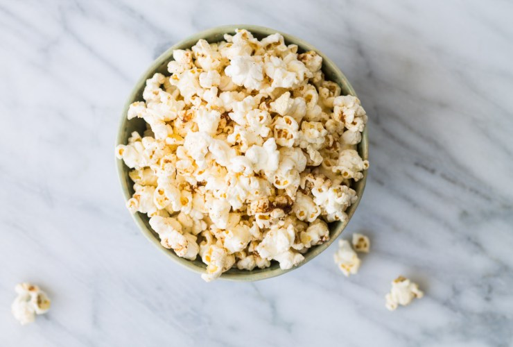 Popcorn is a fantastic low fodmap snack! Try this Low Fodmap Spicy Cinnamon Chipotle Popcorn for a flavorful, whole grain snack!