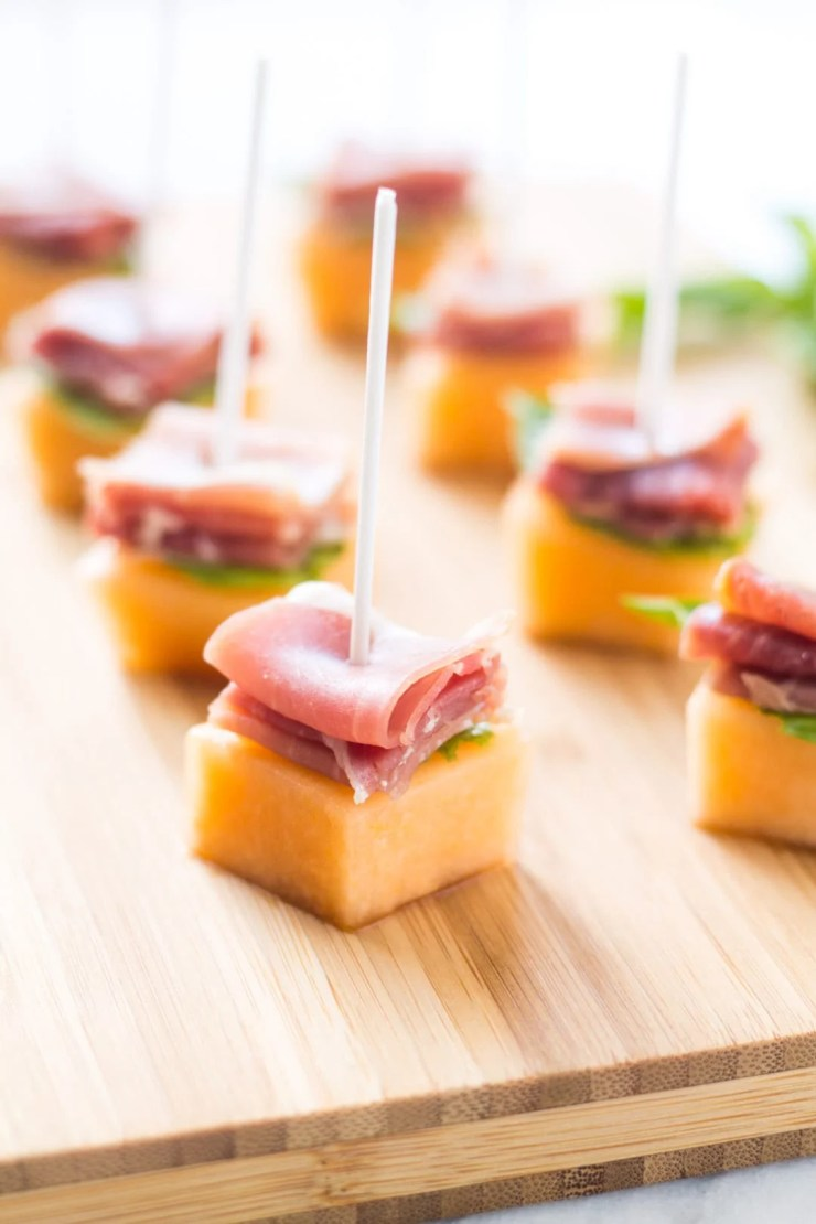 With just a handful of ingredients, these Low Fodmap Prosciutto Melon Bites are a super simple appetizer - perfect for a party of any size!