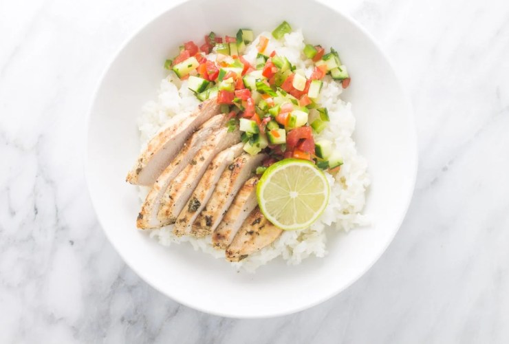 Another five ingredient recipe, this Low Fodmap Cilantro Lime Chicken is delicious grilled and perfect for easy, weeknight burrito bowls!