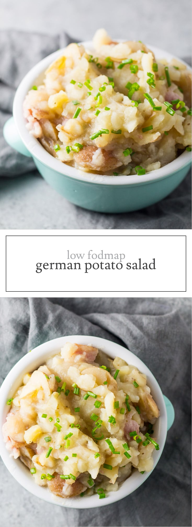 Sweet, sour and served warm, this Low FODMAP German Potato Salad is a hearty, slow cooker side dish that's perfect for the cold weather months.