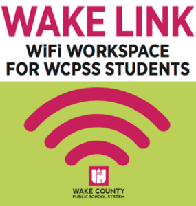 WAKE-LINK Partner: Fuquay Coworking. WiFi Workspace for Wake County Public School Students (WCPSS)