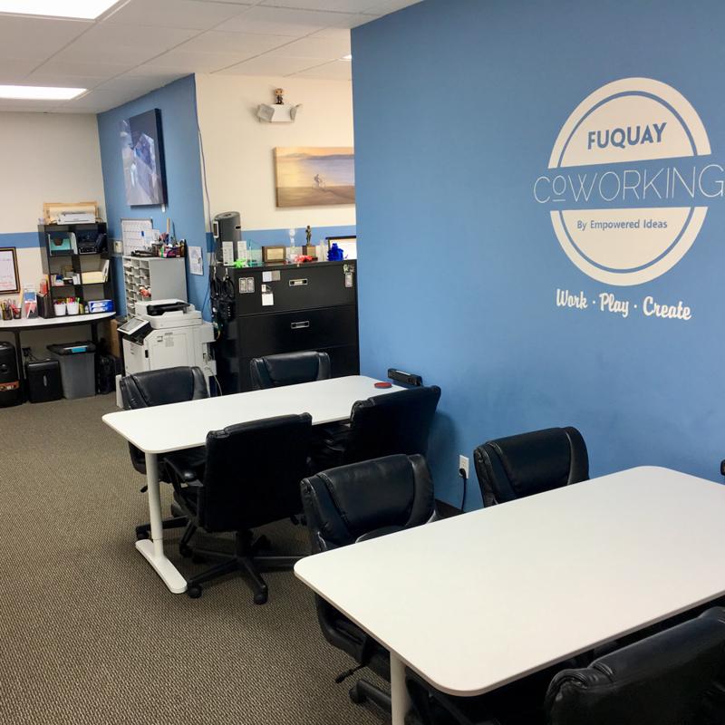 Fuquay Coworking Common Shared Desk Area