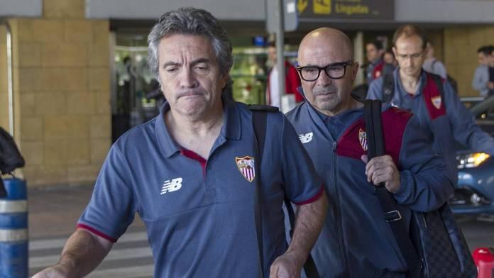 Juanma Lillo avec Sampaoli à Seville.
