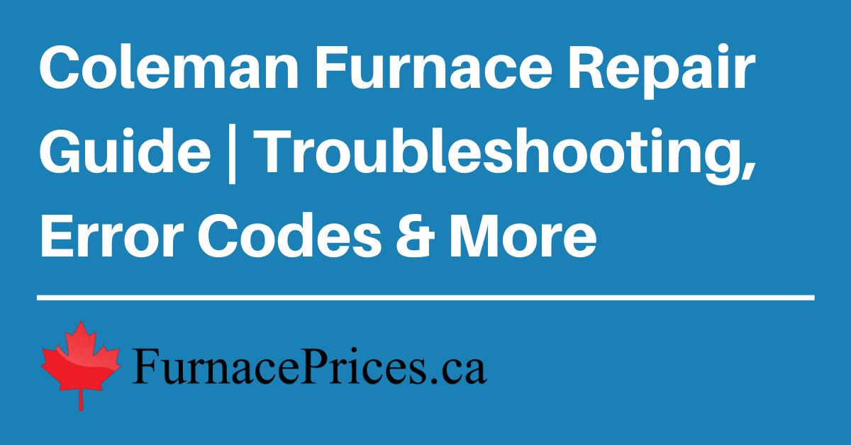 coleman furnace repair