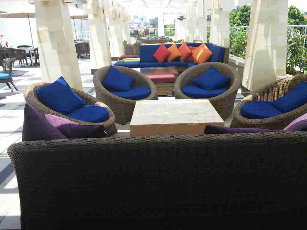 Synthetic rattan living sets